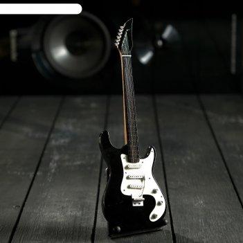 Гитара сувенирная ibanez чёрно-белая, на подставке 24х8х2 см