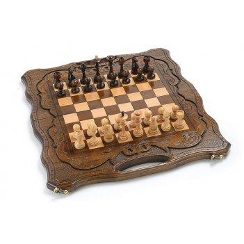 Шахматы + нарды резные узор 50, harutyunyan