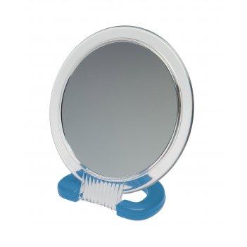 Зеркало dewal beauty настольное, в прозрачной оправе, на пластковой подста