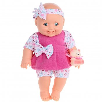 Кукла малышка с мишуткой