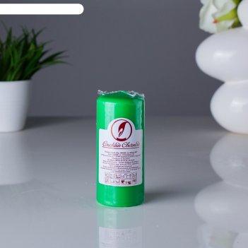Свеча пеньковая 50х115 зеленая