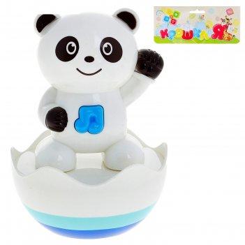 Неваляшка музыкальная панда, со световым эффектом, работает от батареек