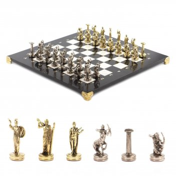 Шахматы подвиги геракла доска 360х360 мм мрамор металл