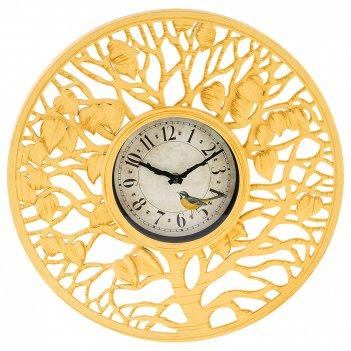 Часы настенные кварцевые древо желаний диаметр=41 см (кор=6шт.)