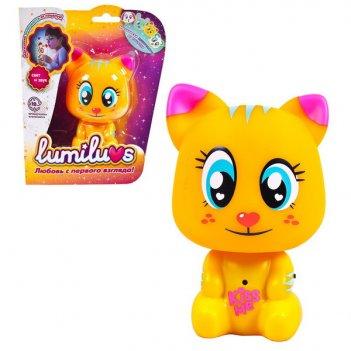 Ночник lumiluvs котёнок tigey (оранжевый)