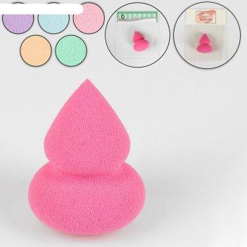 Спонж для макияжа пирамидка, цвета микс