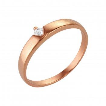 Кольцо классическое, позолота, 17 размер