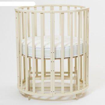Кроватка-трансформер 9 в 1 round, круглая/овальная, универсальная с маятни