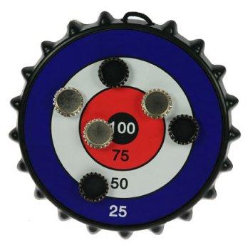 Игра-развлечение к пиву магнитная мишень для пивных пробок 25*