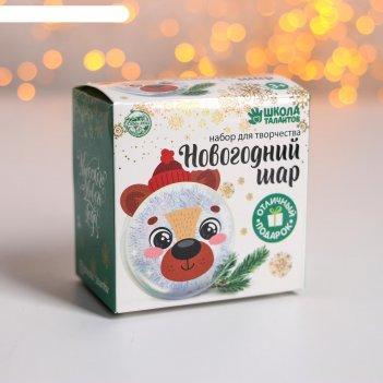 Набор для творчества новогодний шар-персонаж милый мишка