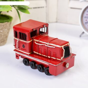 Сувенир металл ретро локомотив 9,5х13х8 см