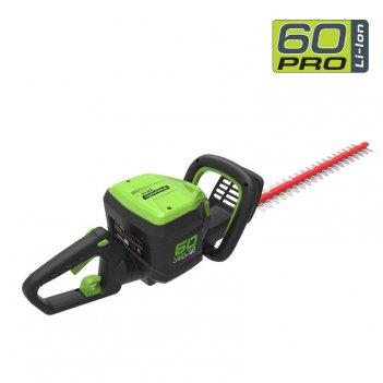 Кусторез аккумуляторный 60 см greenworks 60v gd60ht, бесщёточный, садовая
