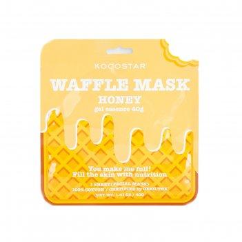 Вафельная маска для лица kocostar «медовое удовольствие», питательная