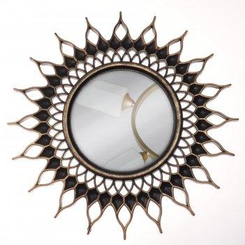 Зеркало настенное «солнце», d зеркальной поверхности 10,5 см, цвет «состар