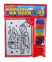 Набор для творчества насыпь на клей. рыбка