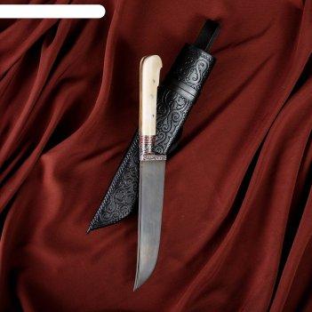 Нож пчак шархон кость ёрма малый (гарда гравировка)