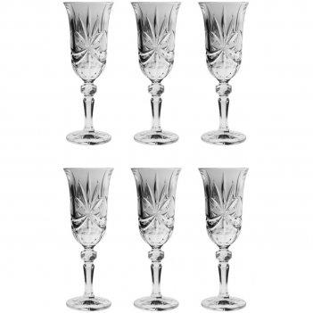 Набор из 6 бокалов для шампанского ribbon, 150 мл
