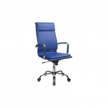 Кресло руководителя ch-993/blue синий, искусственная кожа
