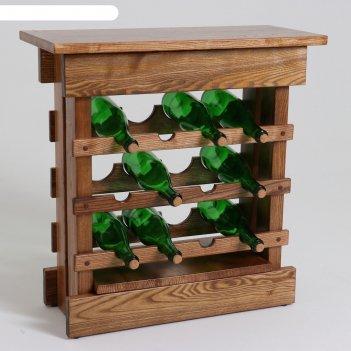 Стойка-стол для вина премиум, 50х30х65 см, массив ясеня