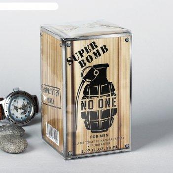 Туалетная вода мужская super bomb no one, 90 мл