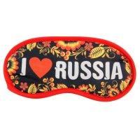 Маска для сна i love russia, 19,3 х 9,4 см