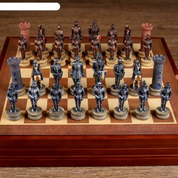 Шахматы сувенирные крестовый поход (доска 36х36х6 см, король h=8 см, пешка