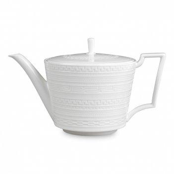 Чайник заварочный инталия, объем: 1 л, материал: костяной фарфор, цвет: бе