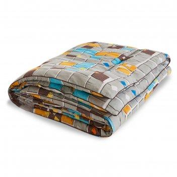 Одеяло тёплое полли, размер 200х220 см, поплин, микс