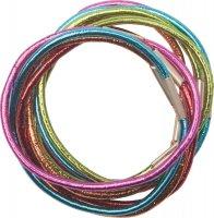 Резинки re040 для волос цветные, блестящие, midi (10 шт.)