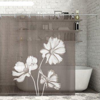 Штора для ванной 180x180 см алиса, eva