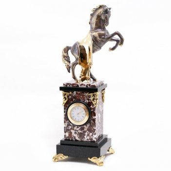 Часы конь с попоной камень креноид