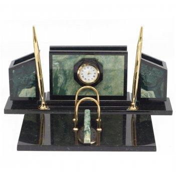 Письменный набор стенка офиокальцит зеленый 350х250х140 мм 5000 гр.