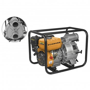 Мотопомпа carver cgp 5580 d, для грязной воды, 4-х такт., 5.2квт/7 л.с., в