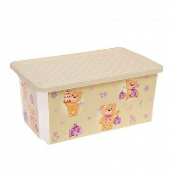 Ящик для хранения игрушек x-box bears 1026ir слоновая кость