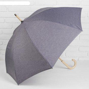 Зонт механический «однотонный», 8 спиц, r = 52 см, цвет синий
