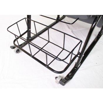 Санки-коляска герда 42-р5 с 4 колесиками и корзинкой тачки эксклюзив серый