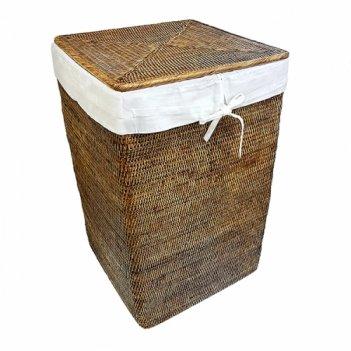 Бельевая корзина с тканевым вложением