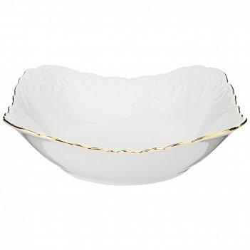 Салатник рококо золотая линия 27 см мал.уп. 6шт без упак