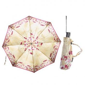 Зонт 23, женский полный автомат (атласный, орхидеи)