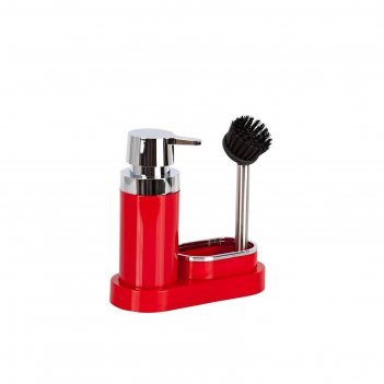 Кухонный набор для мытья посуды, цвет красный