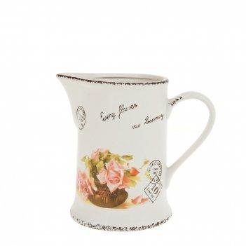 Кувшин персиковая роза 16,5*10,5*15см. v=750мл. (керамика) (по