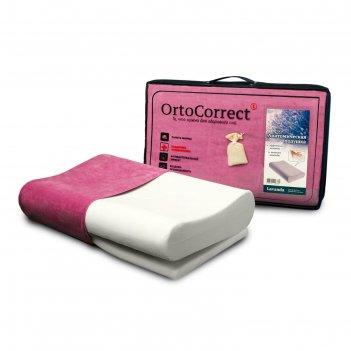 Анатомическая  подушка ortocorrect  «lavanda» classic m с регулировкой выс