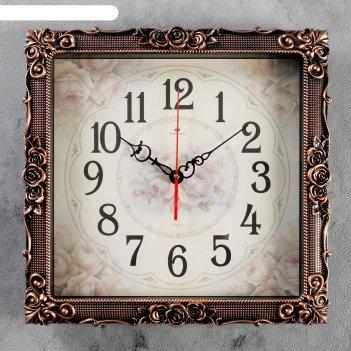 Часы настенные, серия: классика, барака, черная бронза, 38х38 см