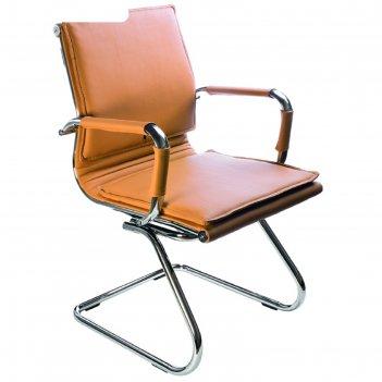 Кресло ch-993-low-v/camel низкая спинка светло-коричневый, искусственная к