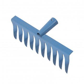 Грабли прямые, повёрнутый зубец, 10 зубцов, металл, тулейка 28 мм, без чер