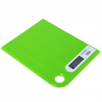 Весы кухонные электронные first 6401-1-gn, до 5 кг, зеленые