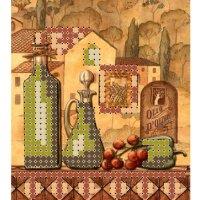 """""""магнит пейзаж 2"""" рисунок для вышивания бисером"""