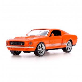 Машина металлическая «спорткар», 1:43, открываются двери, свет, инерция, ц