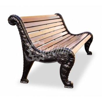 Скамейка чугунная «дубравушка» кресло