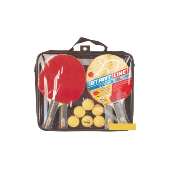 Набор startline 200x2 (4 ракетки, 6 мячей, сетка, сумка на молнии)